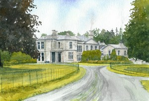 Milheugh House, a copyright painting commissioned for Blantyre Project