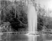 1921 summer pool fountain at Craigneith