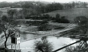 c1914 Suspension Bridge & Convent School on the hill