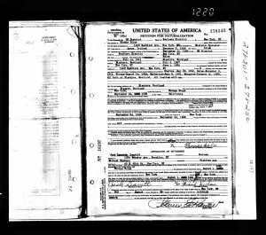 1932 Tom Dolan's Citizenship papers
