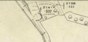 1936 Map showing Cemetery