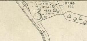 1936 Map showing Stoneymeadow Cemetery