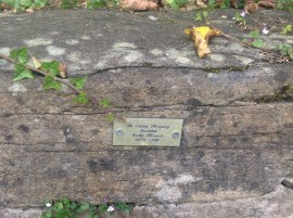 2014 Memorial Plaque on Stoneymeadow Wall