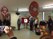 2014 Wed 29th October. Mitchell Kinnen opens Crossbasket Nursery