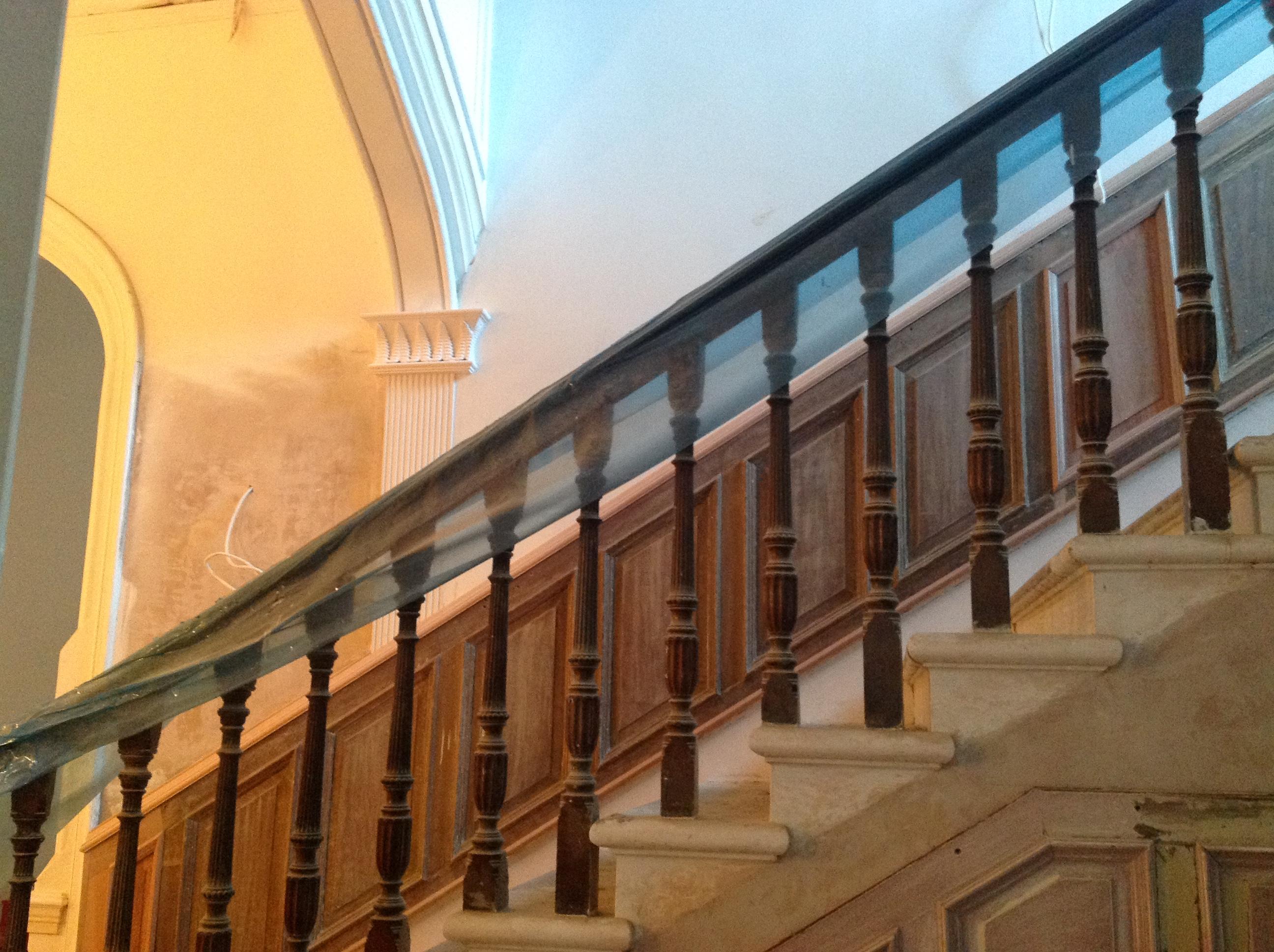 2014 Crossbasket Castle stairway undergoing renovation