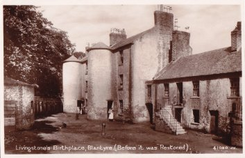 1906 Livingstone Birthplace. Shuttle Row (PV)