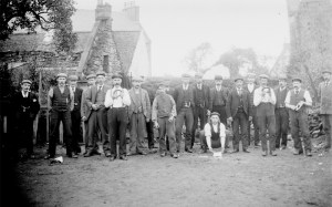 1908 Large Quoiting Group at Broompark