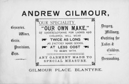 Andrew Gilmour Advert 1