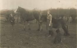 1925 Annie Main Marshall & brother Alex Main at Little Udston Farm by Jim Cochrane