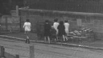1931 Springwells children pass under the bridge