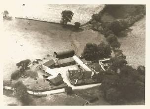 1960 Calderside Farm aerial view shared by Jim Cochrane