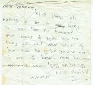 1977 Letter to Janet Veverka (mum)
