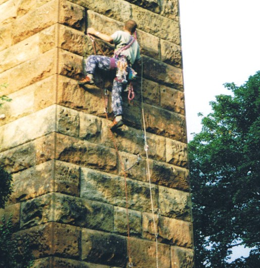 2000 Climbing at Greenhall Piers by Alex of Spittal Terrace