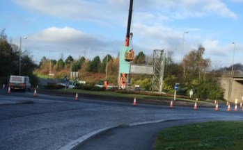 2014 November 9th . Remedial work on the Big H. Shared by Emma Louise