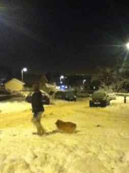 2010 Paula Veverka and dog at Westrcaigs Dec (PV)