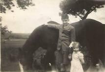 Jim Marshall and sister at Calderside shared by Jim Cochrane