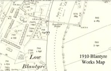 1910 Blantyre works map