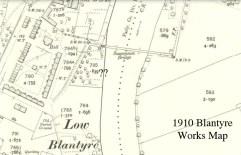 1910 Blantyre works map