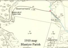 1910 Tramway crossing the Coal Burn at Laighlyock