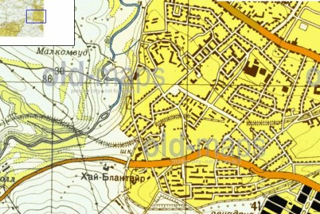 1972 Cold War Russian map of Blantyre