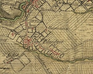 1747 High Blantyre Map showing Main Street