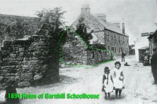 1890 Barnhill Schoolhouse ruins highlighted in green