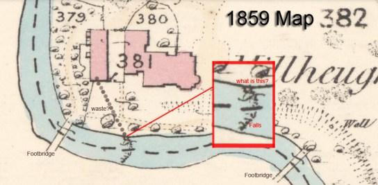 1859 Milheugh Map showing waste