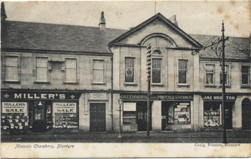 1918 Masonic Hall at Glasgow Road. Shared by A Rochead