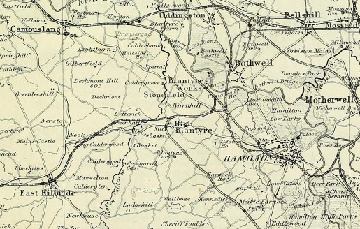 1881 Railways around Blantyre