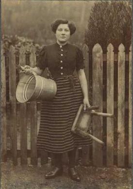 1920 Maggie Marshall at Hallside Farm. Shared by A Rochead