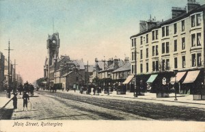 Rutherglen Town Hall and Main Street