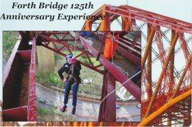 2015 Alex Abseiling on Forth Road Bridge (Feb)