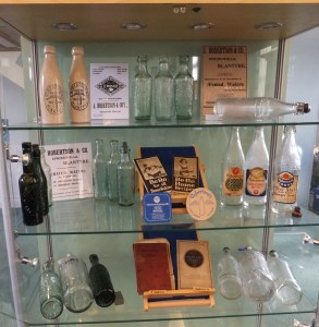 2015 Library Display of Roberstons Bottles. By G Cook