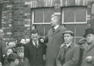 1947 Andra McAnulty at Dixons unveiling the NCB flag