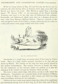 1765 Calderwood Tower sketch from Co-op publication 1904.