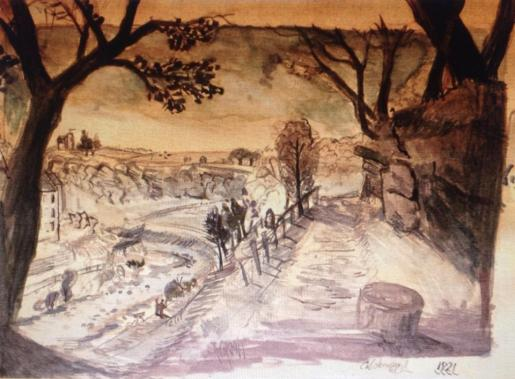 1821 Sketch by Mary Paterson of Calderwood Glen