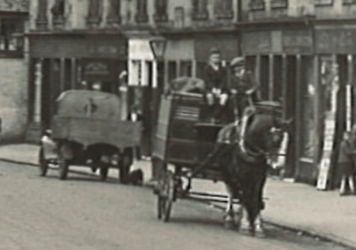 1927 Horse and Cart at Main Street