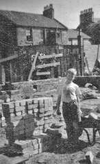 1959 August. Rebuiding Stonefield Cottage at 289 Glasgow Road. By RDS