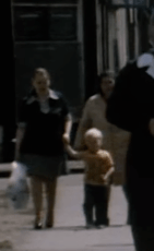 1978 Mystery boy and mother in Glasgow Road