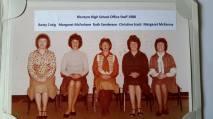 1980 Blantyre High School Office Staff. Shared by Neil Scott/ C Gardner.