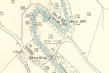 1898 Mavis Mill Map showing the weir