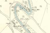 1898 Mavis Mill Map showing the weir