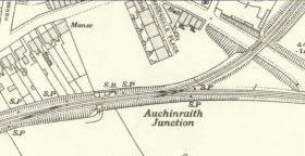 1936 Auchinraith Junction map