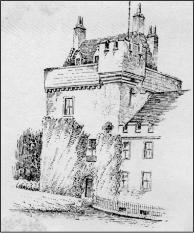 Crossbasket Tower, sketched by Paul Sandby in 1765