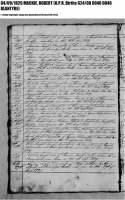 Robert Mackie birth record 1829