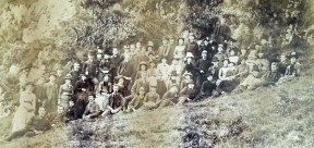 1886 Blantyre Group Sunday outing to Louden Hill. Shared by I Fleming.