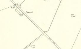1898 Map showing Loanend Farm in ruins