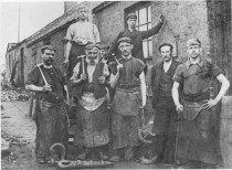 Blantyre Blacksmiths 1920s at Priestfield. Photo G Cook