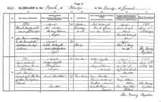Marriage 1861 Janet Hamilton and Matthew Leggat