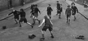 Children playing in the 1940s